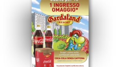 Photo of Biglietto Gratis Gardaland con Coca-Cola