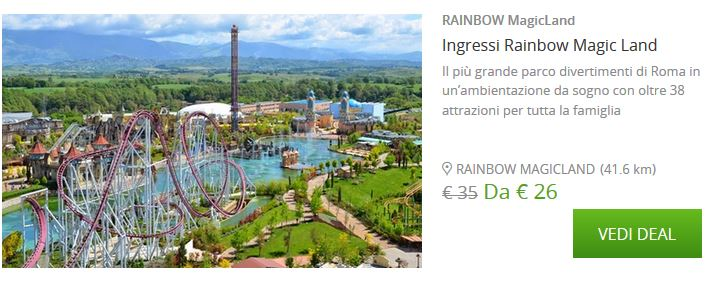 Photo of Rainbow Magicland 2016 Coupon Biglietto Ingresso