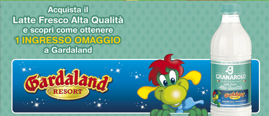 Photo of Gardaland Biglietto Gratis 2017 con Granarolo