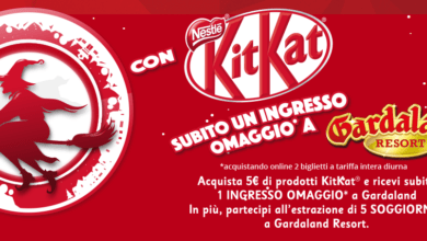 Photo of Gardaland Biglietto Gratis con KitKat 2018