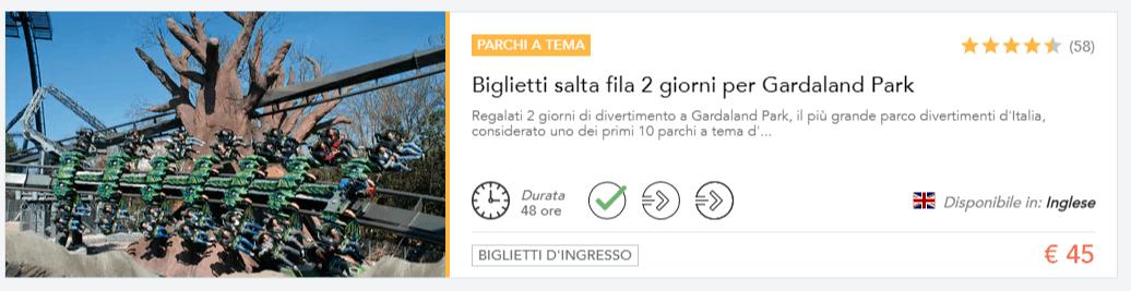 BIGLIETTO SCONTATO GARDALAND 2 GIORNI Musement
