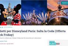Photo of Disneyland Paris offerta biglietto Black Friday 2019