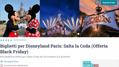 Photo of Disneyland Paris offerta biglietto Black Friday 2019